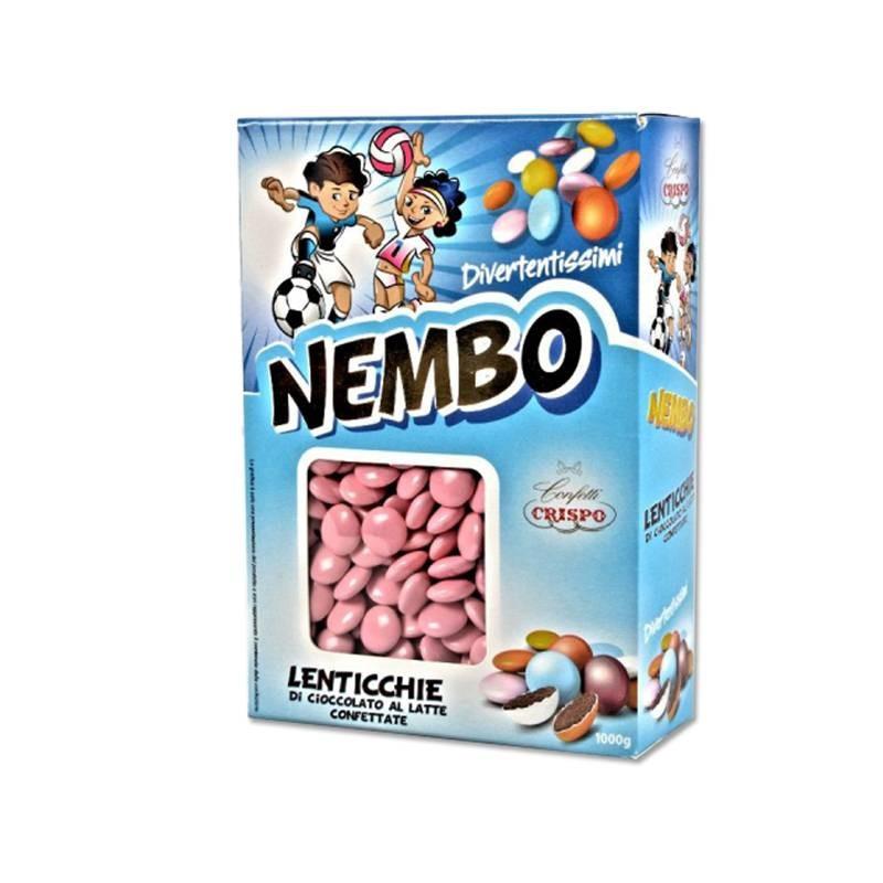 CRISPO CHOCOLATE LENTILS NEMBO PINK - 1KG