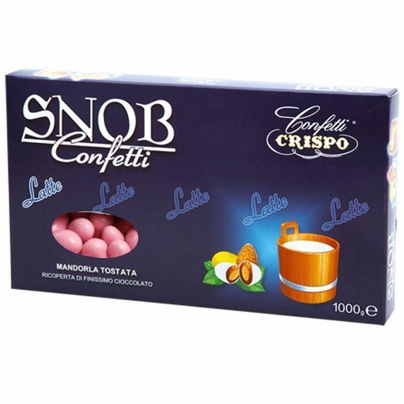 SUGARED ALMOND SNOB MILK CRISPO PINK - 1KG