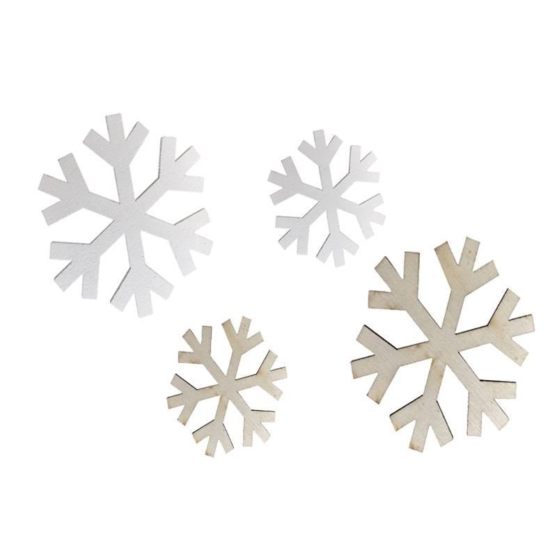 Decorazioni Natalizie Fiocchi Di Neve.Decorazioni Natalizie In Legno Fiocco Di Neve