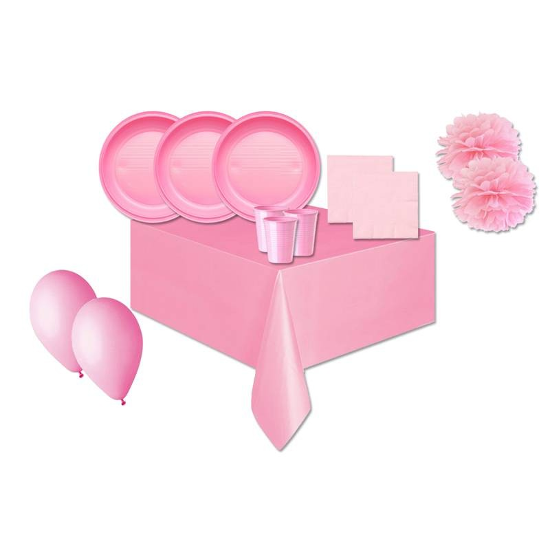 KIT N.56 COORDINATED TABLE PINK ONE COLORE