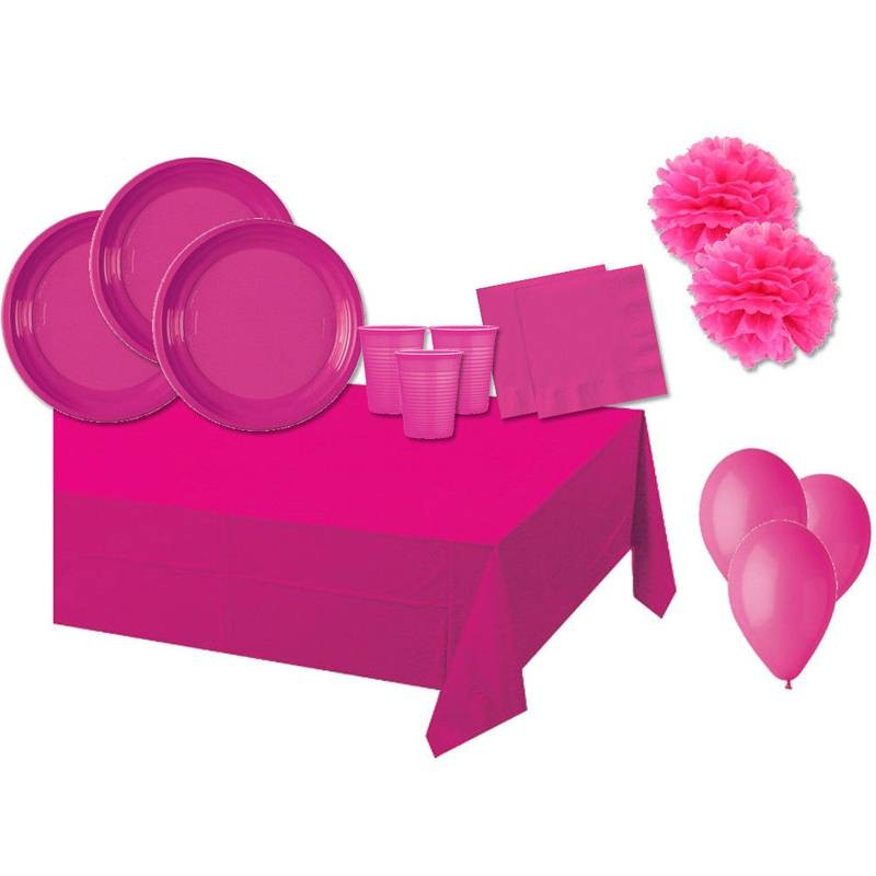 KIT N.56 DECORATION PARTY - ONE COLORE FUCHSIA