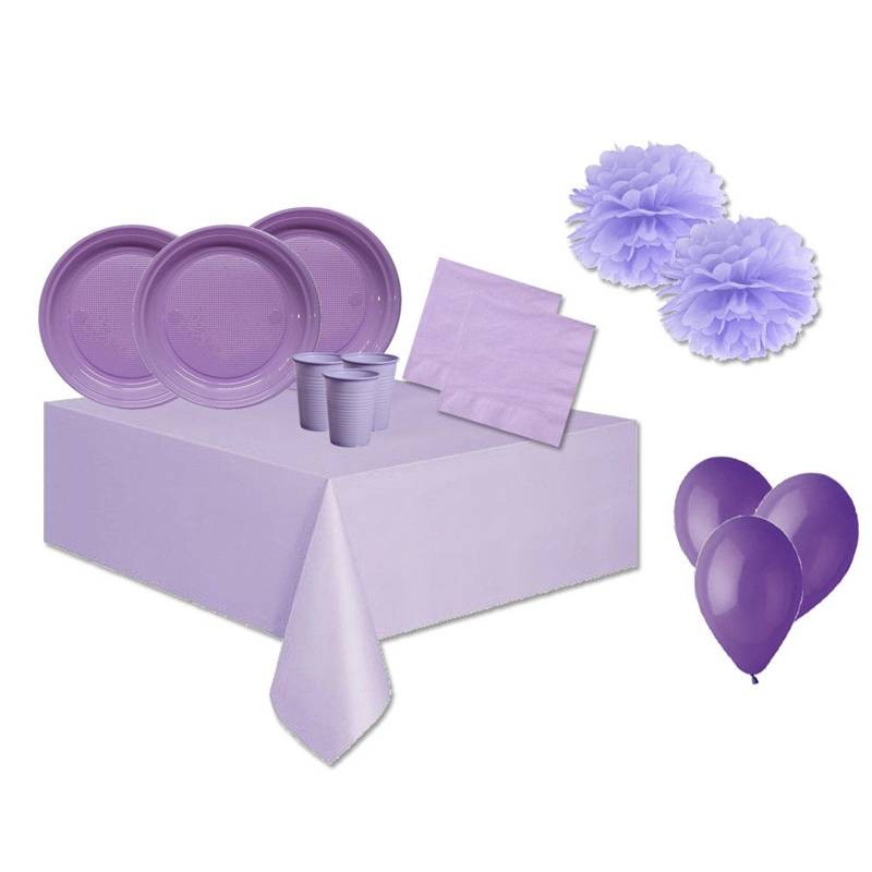 KIT N. 56 TABLE ACCESSORIES - LILAC ONE COLORE