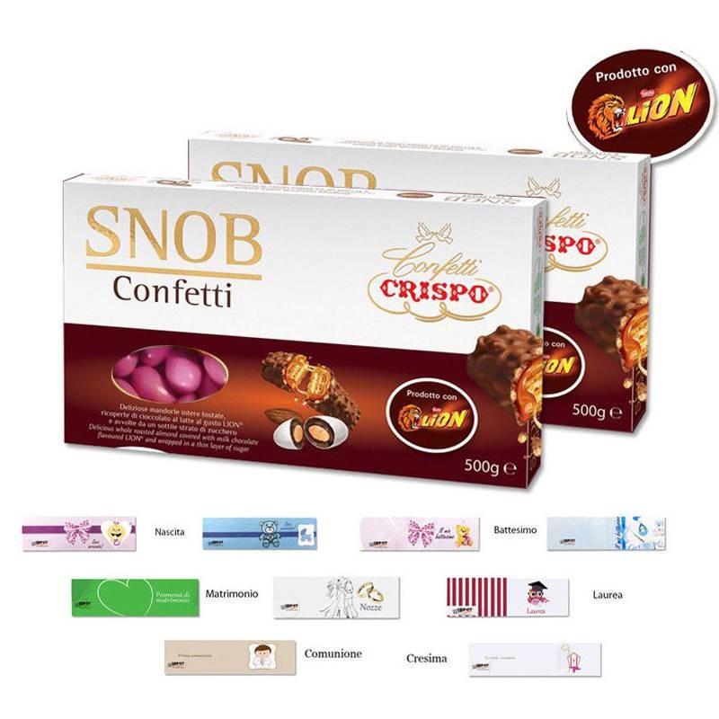SUGARED ALMOND CRISPO SNOB LION PINK 1KG + 100 NOTES