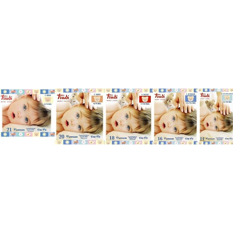 NAPPIES TRUDI BABY CARE DRY FIT- 6 PACCHI - PACKETS
