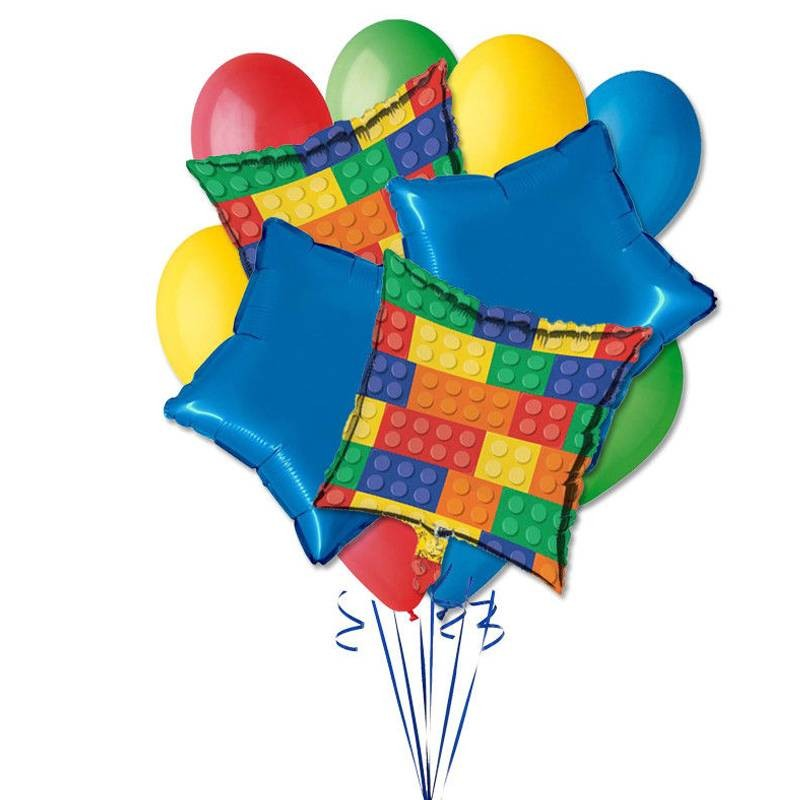 COMPOSITION OF BALLOONS N.9 - LEGO PARTY