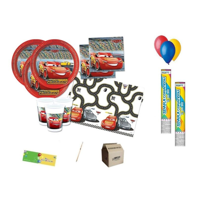 KIT N. 30 ADDOBBI PER LA FESTA CARS 3