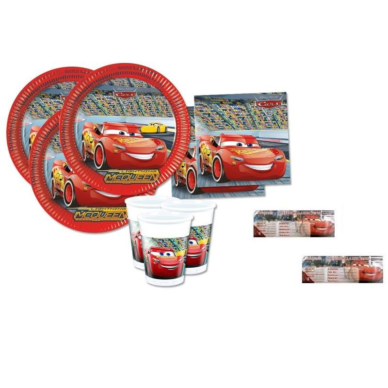 KIT N.23 ACCESSORI PER COMPLEANNO CARS 3