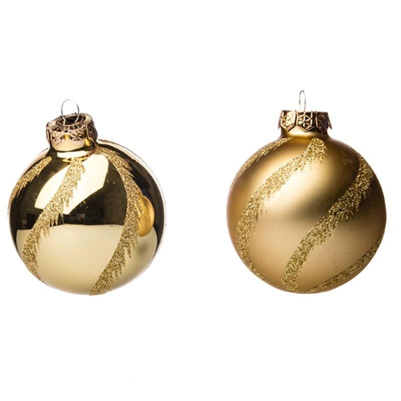 Palline Natale.Palline Di Natale Oro