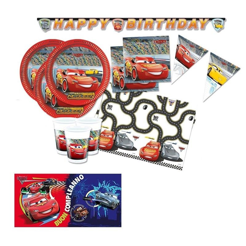 KIT N.41 SET COMPLEANNO CARS 3