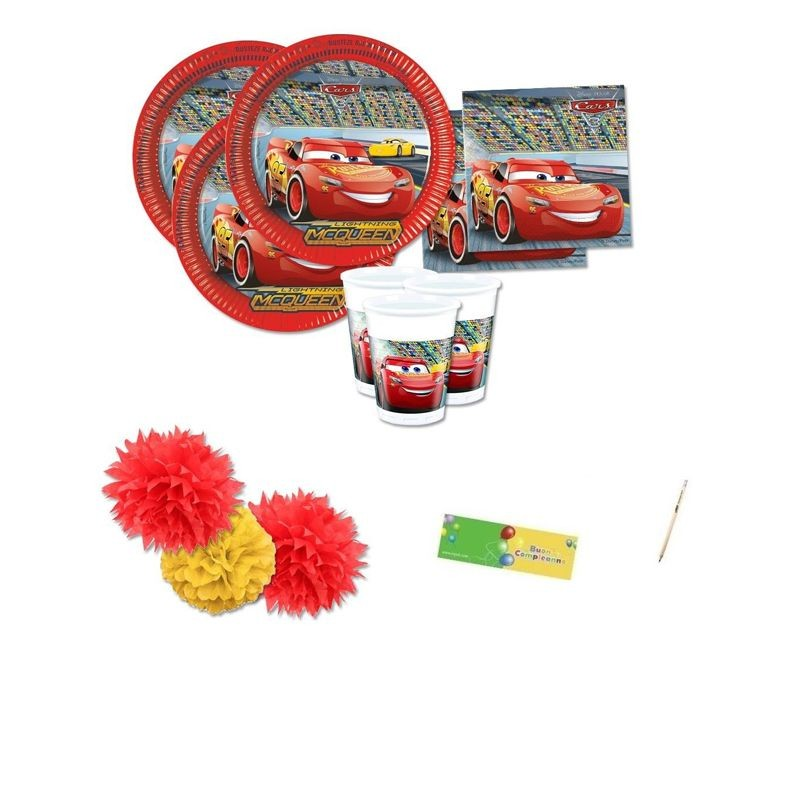 KIT N. 53 COORDINATO FESTA CARS 3