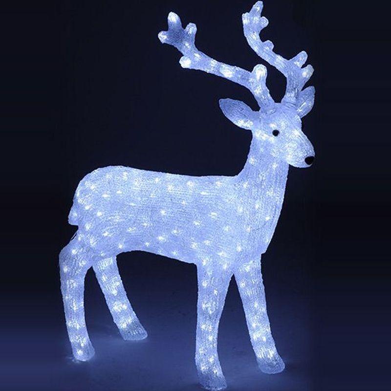 Renna luminosa a led decorazione natalizia per esterni - Renna natalizia luminosa per giardino ...