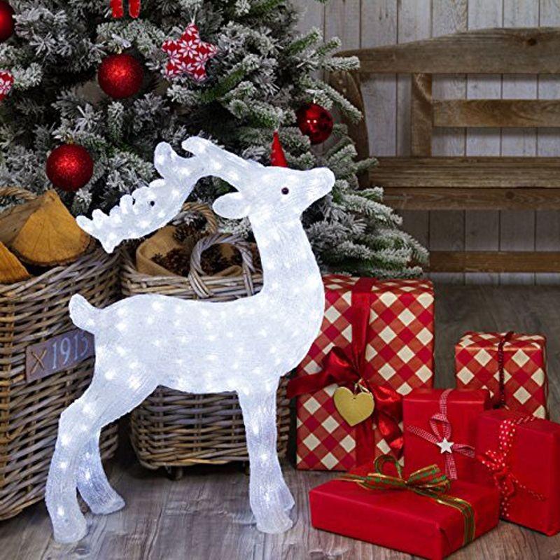 Renne luminose natalizie per addobbi irpot - Renna natalizia luminosa per giardino ...