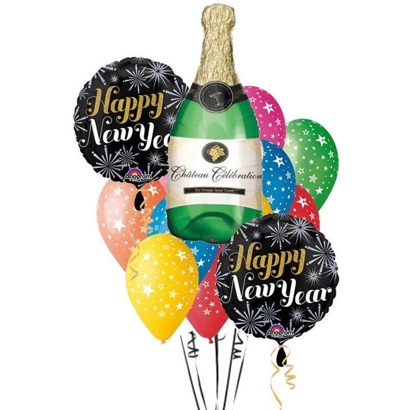 BALLOONS' SET HAPPY NEW YEAR