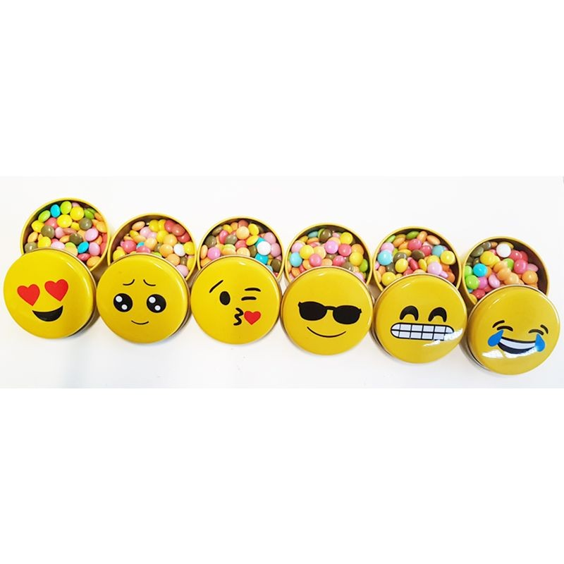 SCATOLE EMOTICON PORTACONFETTI - 12 PZ KIT