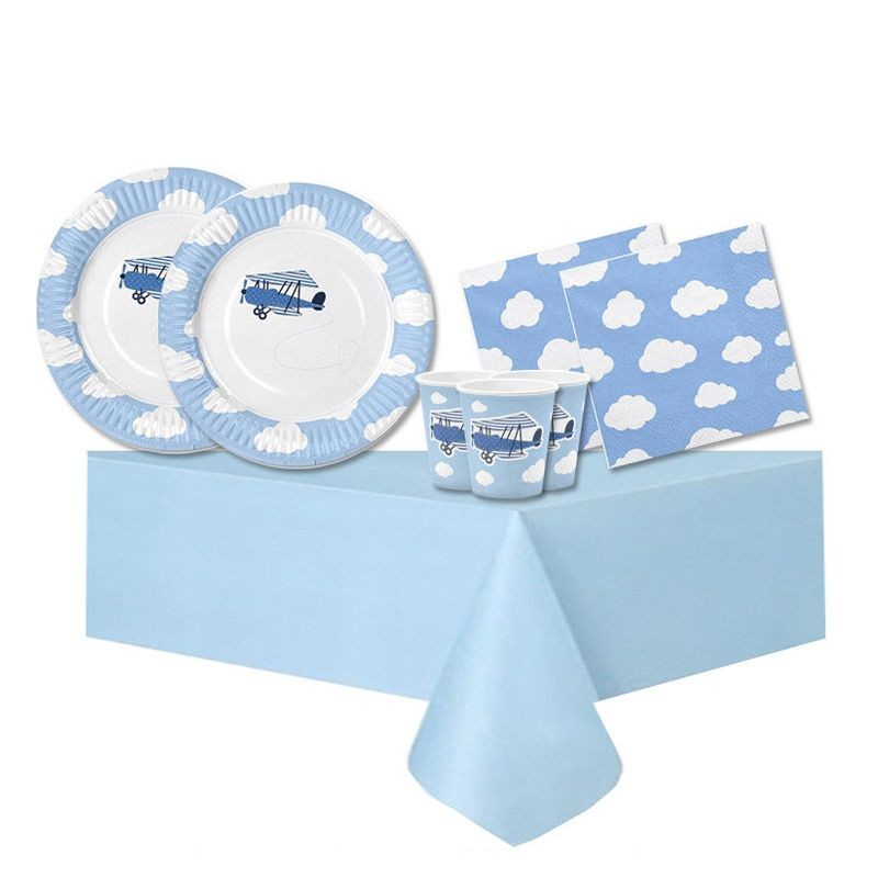 KIT N.3 LITTLE PLANE - ACCESSORI TAVOLA PER COMPLEANNI SPECIALI
