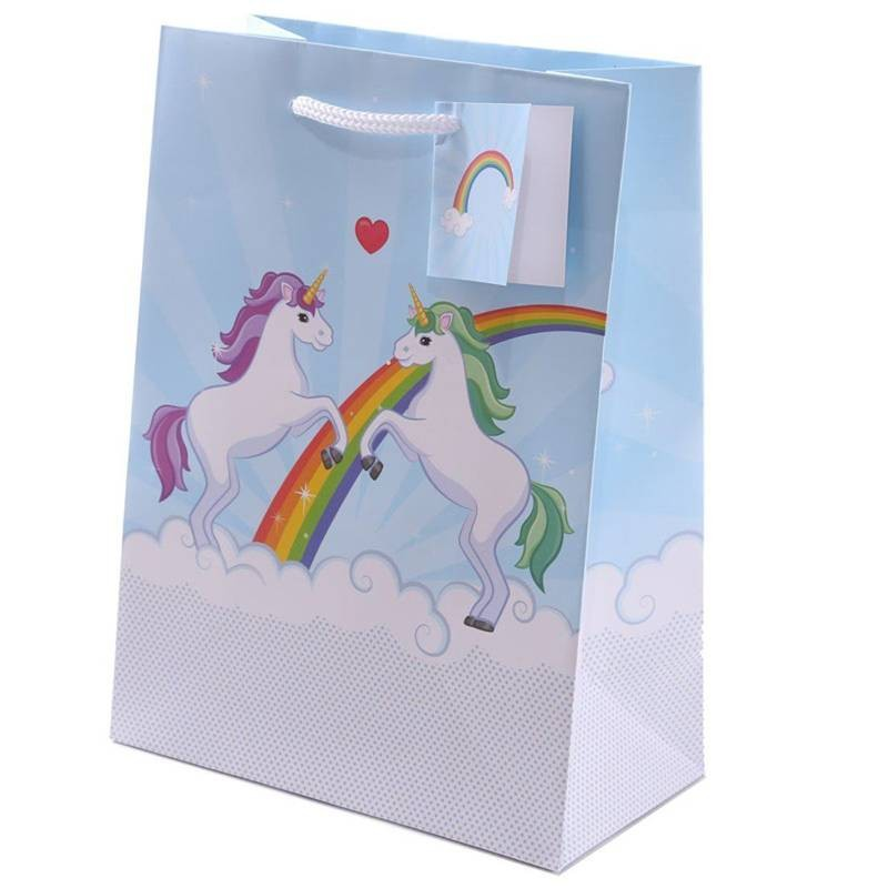SHOPPER UNICORNO - BUSTA REGALO DIVERTENTE