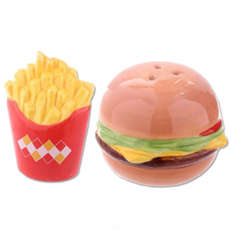 PORTA SALE E PEPE HAMBURGER - ACCESSORI CUCINA ORIGINALI