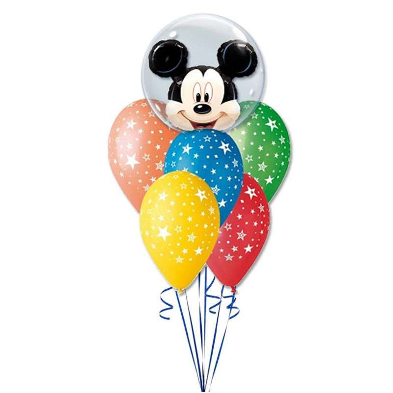 BALLOONS' COMPOSITION- MICHEY MOUSE'S FOIL FOR BIRTHDAYS
