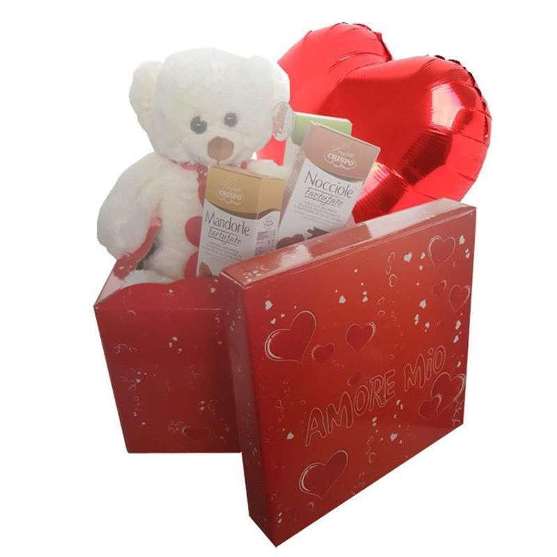 Scatola Regalo San Valentino.Idea Regalo San Valentino Peluche Romantica Scatola