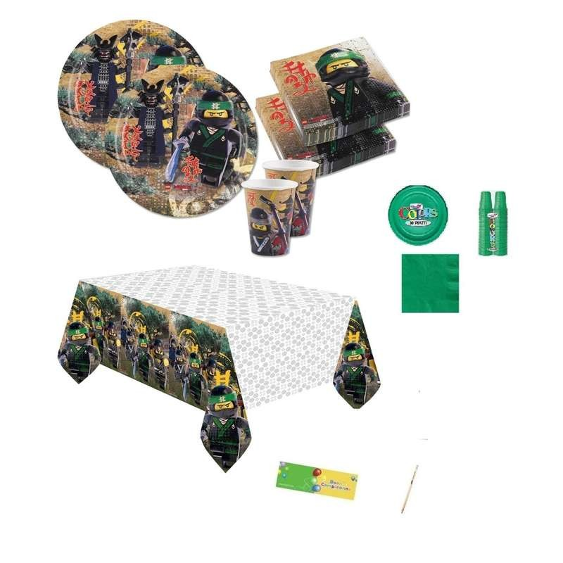 Kit N 7 Lego Ninjago Accessori Tavola