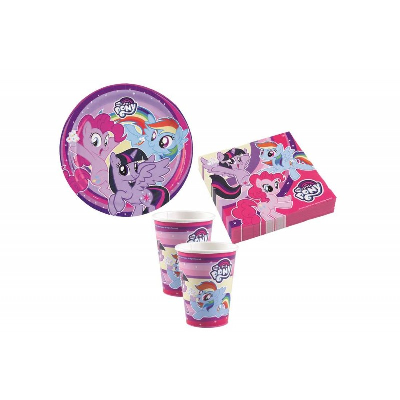 KIT N2 64 PZ COMPLEANNO BAMBINA MY LITTLE PONY