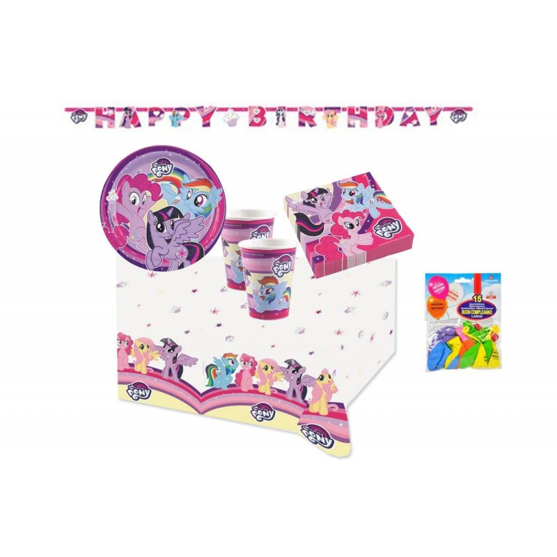 KIT N1 49 PZ COMPLEANNO MY LITTLE PONY