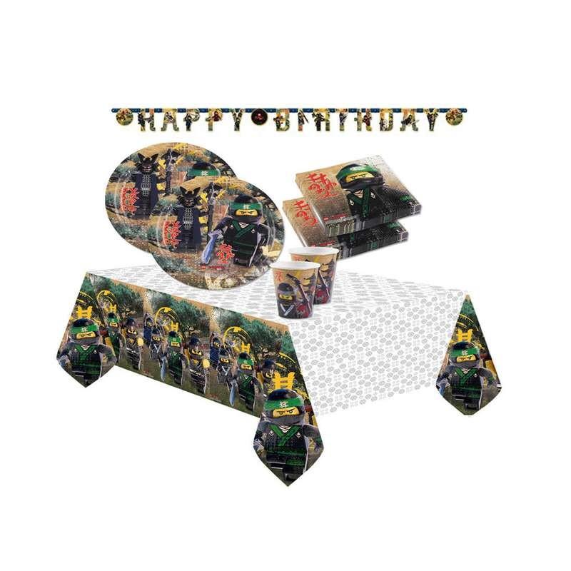 Kit lego ninjago coordinato tavola per feste di for Decorazioni torte ninjago