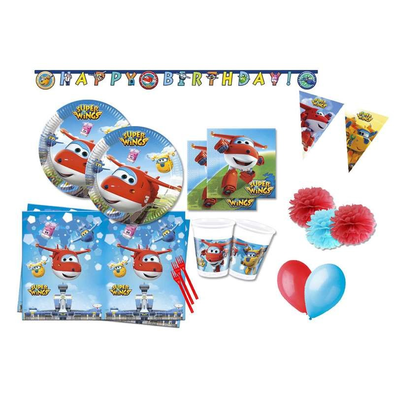 KIT N.54 SUPER WINGS - KIT TAVOLA PER COMPLEANNI