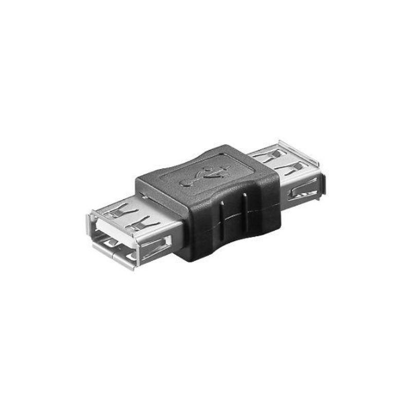 2 X ADATTATORE USB FEMMINA FEMMINA