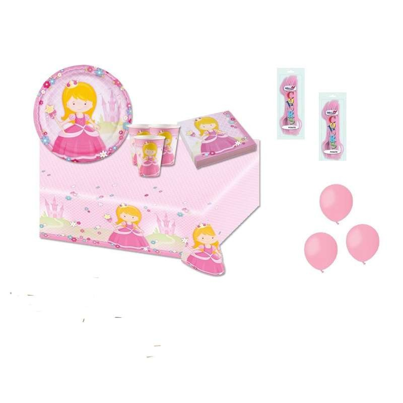 KIT N.6 MY PRINCESS - COORDINATO COMPLEANNO