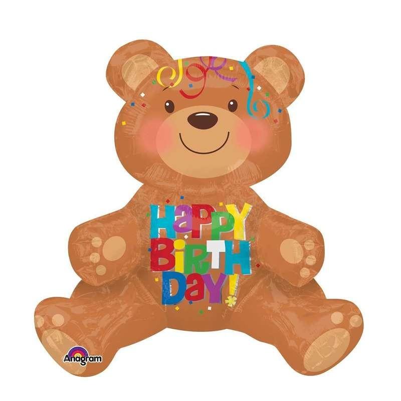 PALLONCINO FOIL - ORSO HAPPY BIRTHDAY