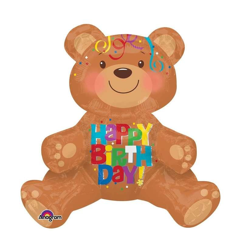 PALLONCINO FOIL - ORSO HAPPY BIRTHDAY