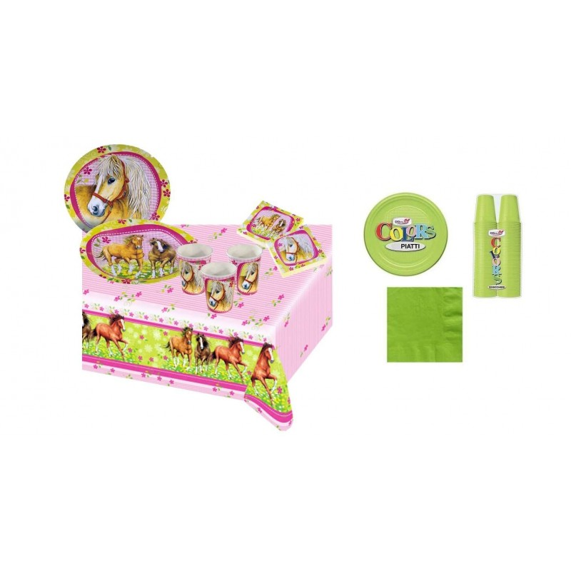 KIT 7 - 217 PZ. MONSTER UNIVERSITY + MONOCOLORE VERDE CHIAR0