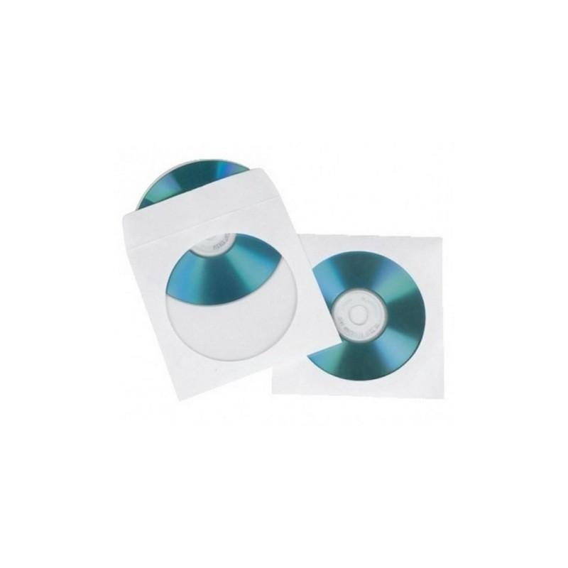 500 X CUSTODIE MICRON PER CD DVD CON OBLO' E ALETTA