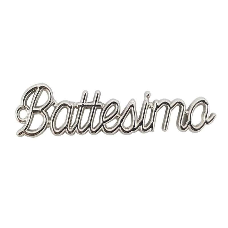 SCRITTA BATTESIMO COLOR ARGENTO - DECORAZIONE