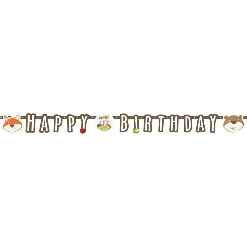 GHIRLANDA LA VOLPE E IL CASTORO - HAPPY BIRTHDAY