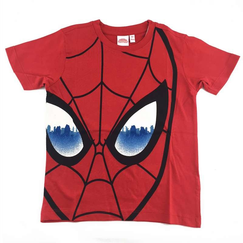 T-SHIRT SPIDERMAN ROSSA - MANICHE CORTE