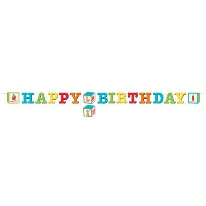 GHIRLANDA ABC - HAPPY BIRTHDAY