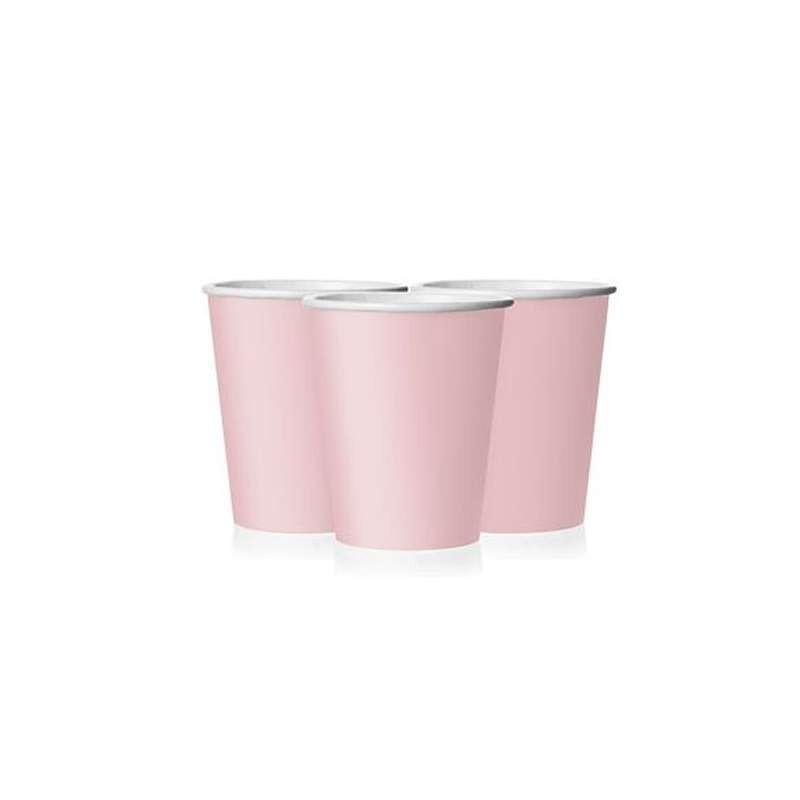 BICCHIERI CLASSIC PINK - ROSA PASTELLO 8 PZ