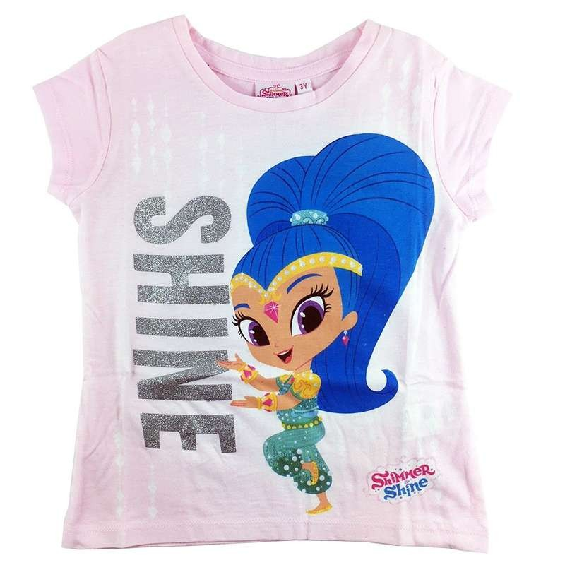 T-SHIRT SHIMMER AND SHINE - ROSA