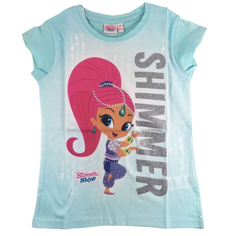 T-SHIRT SHIMMER AND SHINE - CELESTE