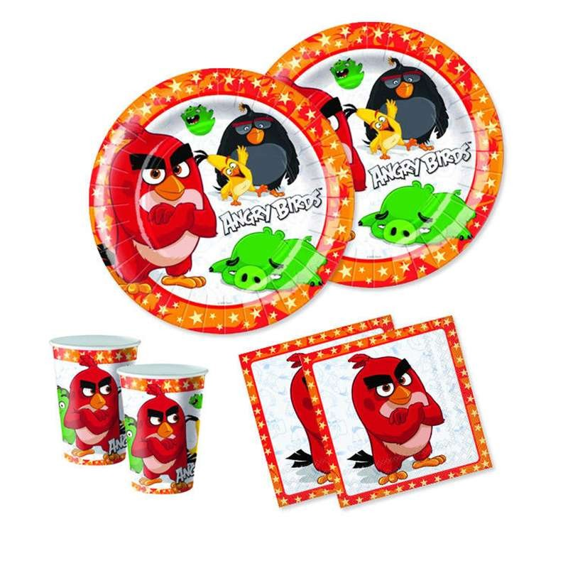 KIT N.2 ANGRY BIRDS NEW - COORDINATO PER IL COMPLEANNO