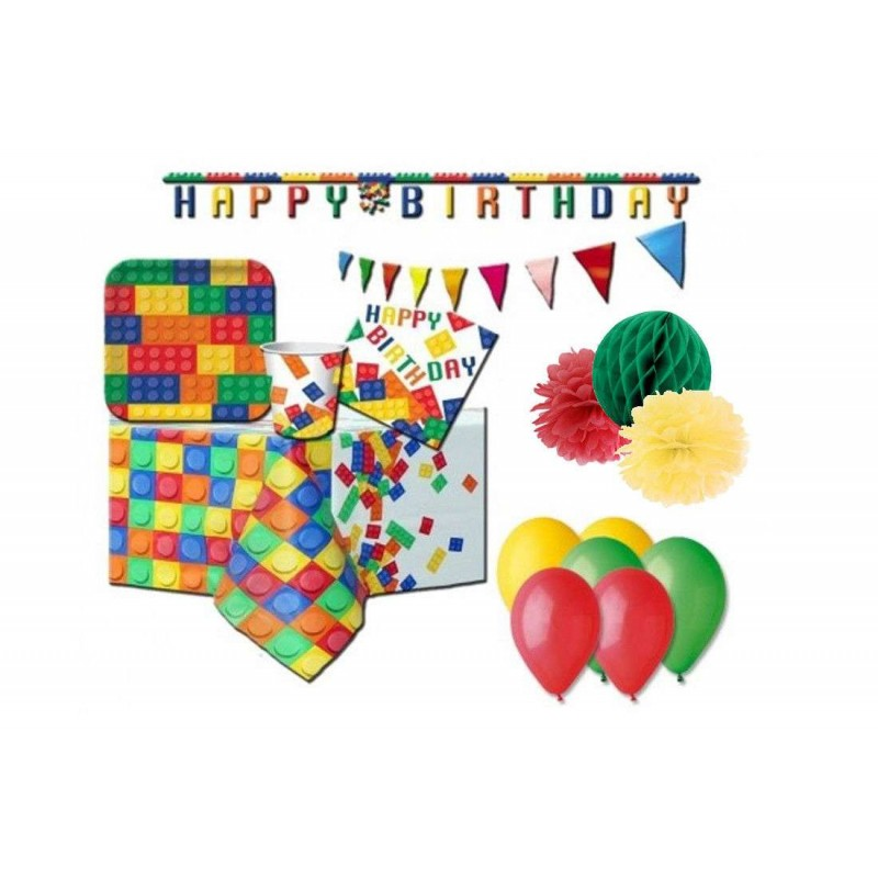 KIT N.58 LEGO BLOCK PARTY - COORDINATO FESTA