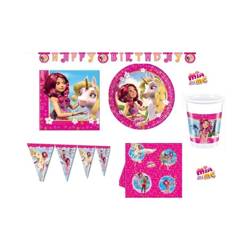 KIT N17 123 PZCOMPLEANNO BAMBINA SERIE MIA AND ME