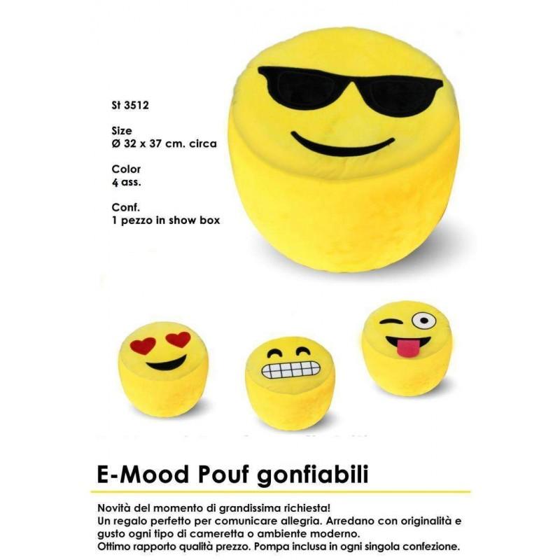 POUF EMOTICON SMILE - POUF PER BAMBINI