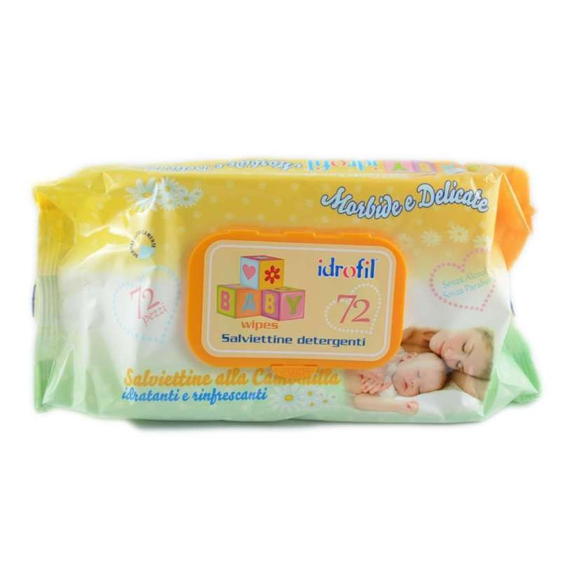 SALVIETTINE DETERGENTI ALLA CAMOMILLA - IDROFIL BABY