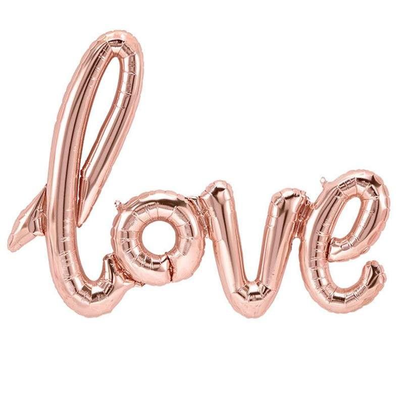 SCRITTA LOVE ROSE GOLD - PALLONCINO FOIL