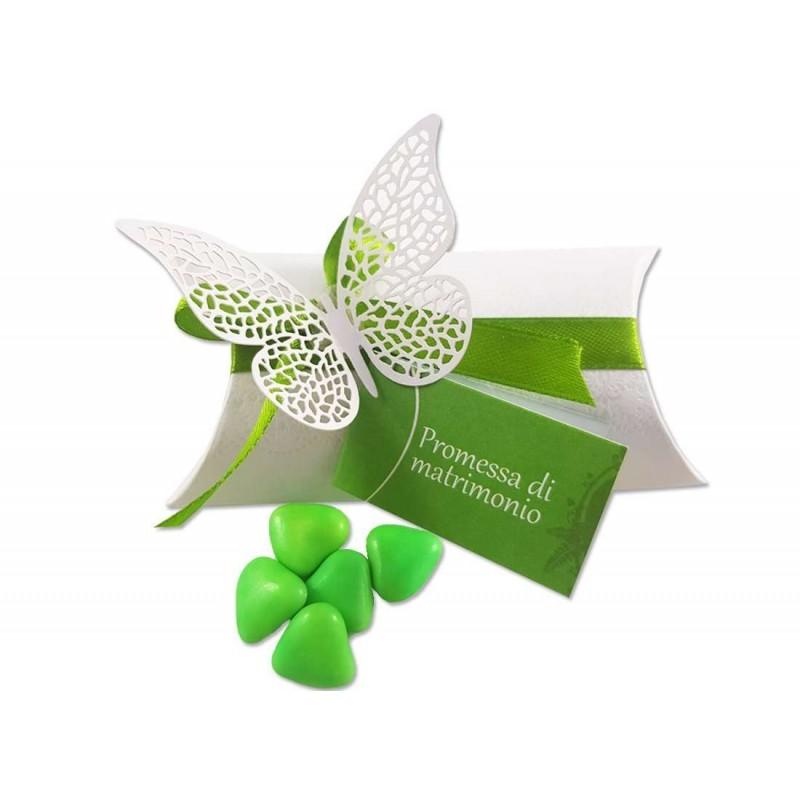 Bomboniere promessa di matrimonio scatoline con farfalle for Addobbi per promessa di matrimonio