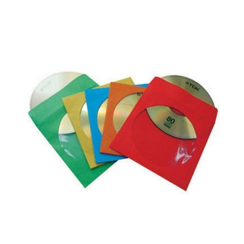 ICA-CD-PAP2Y 100 BUSTINE CARTA COLORATA CON OBLO E ALETTA OEM