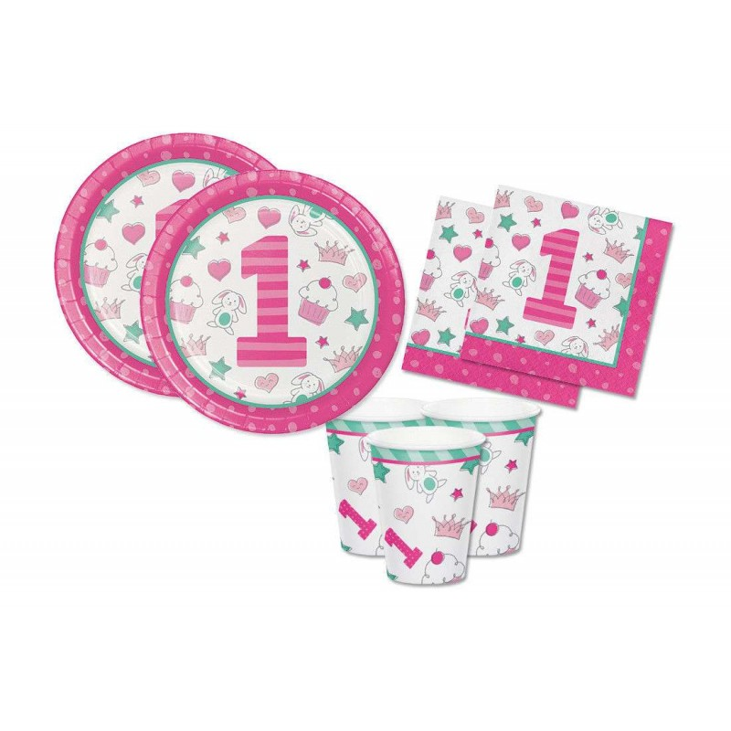 KIT N.2 DOODLE ROSA 1 ANNO – PRIMO COMPLEANNO